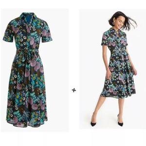 Abigail Borg for J Crew Floral Midi Shirt Dress 2